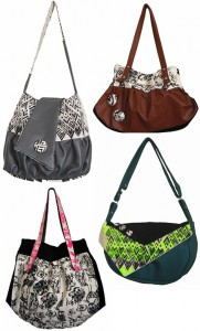 модные текстильные сумки.