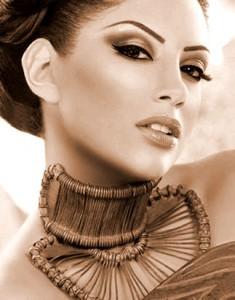 макияж женщины вамп