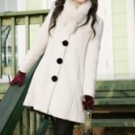 Пальто, плащи и куртки Fashion Round Collar Sweet Long Sleeve Coat White.