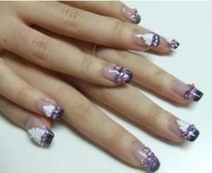 техника росписи на ногтях