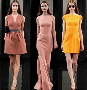 модные платья весна 2011