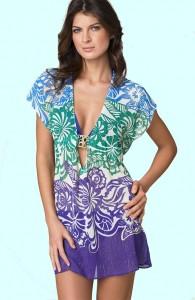 Пляжные платья кимоно для полных 2013