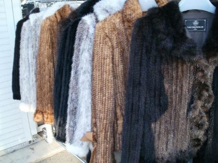 шубы из вязаной норки