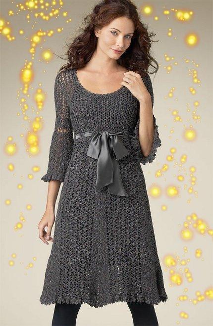Платья вязание для беременных 83
