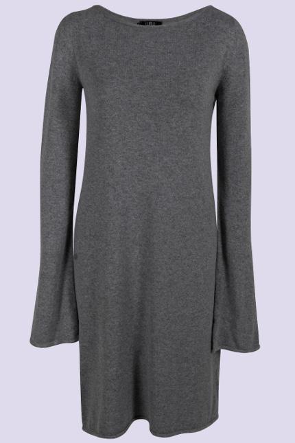 серое шерстяное платье 2014-2015
