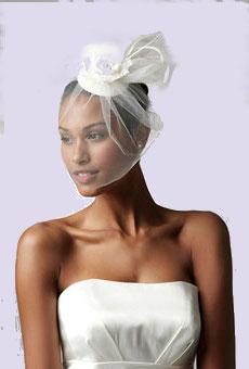 свадебная шляпка с вуалью