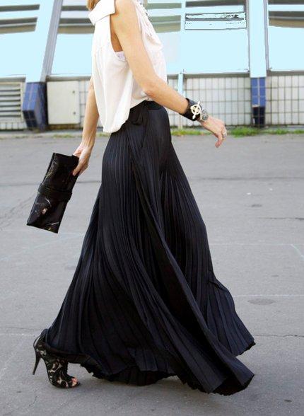 летние модные юбки в пол:
