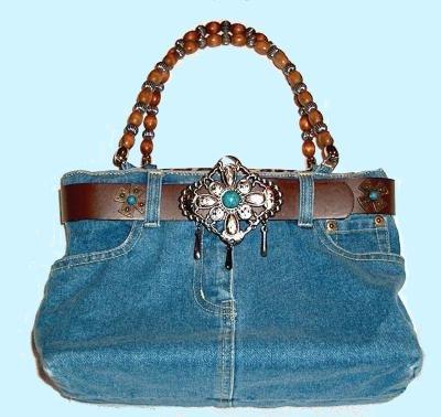Как сшить сумки из старых джинсов.  Варианты сумок, выкройки, технология...