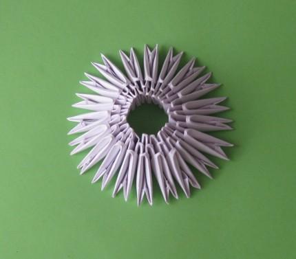 схема модульного оригами ваза.