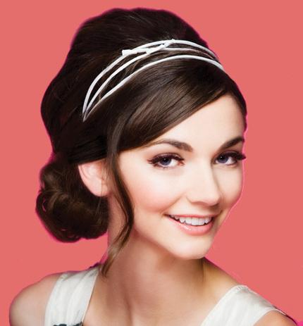 Прически с повязкой для волос на голове, на лбу 2