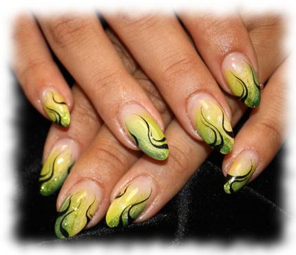 сочетание цветов в дизайне ногтей: