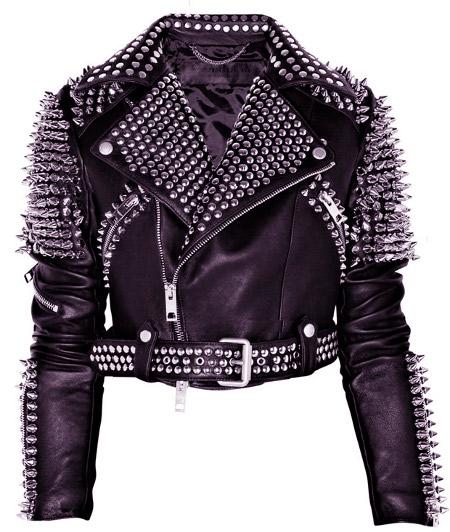 Укороченная куртка с шипами