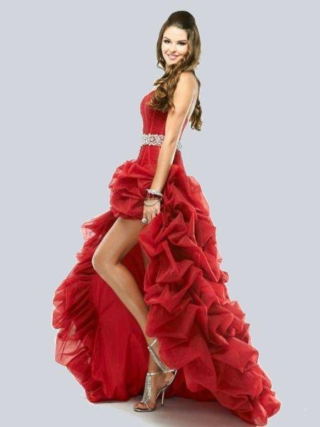 модное трикотажное платье