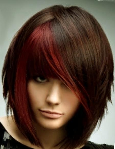 Стрижки на средние волосы 2016 фото с челкой каскад - 2ed25