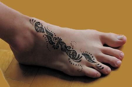 Рисунки хной на руках и ногах — индийское искусство