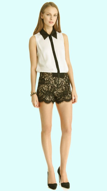 Модные шорты из гипюра