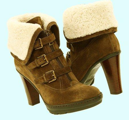 Зимняя обувь на каблуке под пуховик