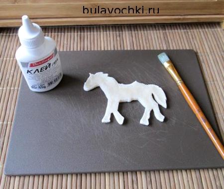 Сушка лошади из соленого теста