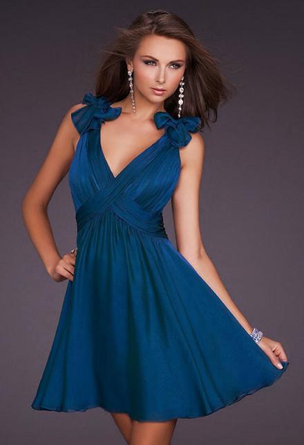 Платье на выпускной короткое в греческом стиле