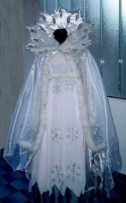 Костюм снежной королевы своими руками фото быстро и красиво