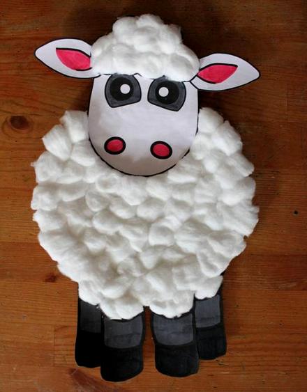Своими руками овечку из ваты