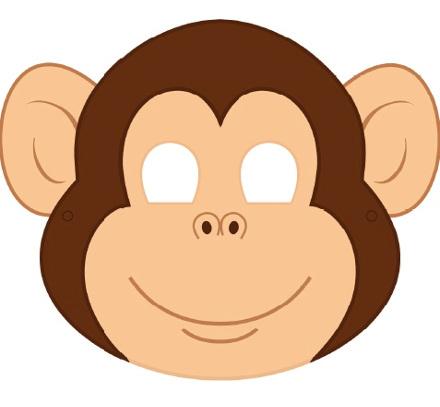 Новогодние маски своими руками обезьяны