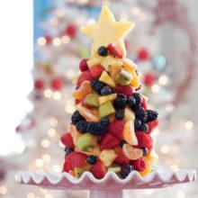 Елочка из фруктов на новогодний стол