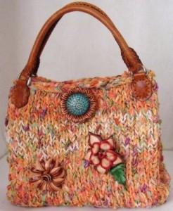 вязаные сумки для девушек