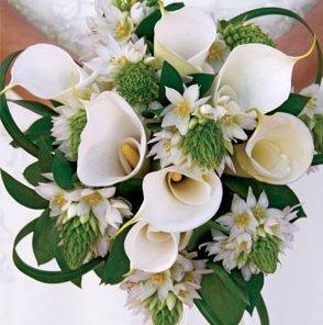 свадебный букет невесты из лилий