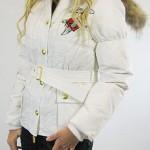 женские пуховики с вышивкой