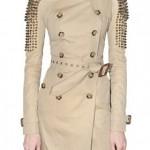модное женское пальто в стиле милитари