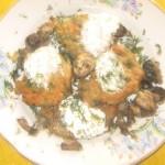 Драники, деруны, картофельные оладьи с шампиньонами