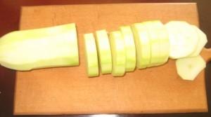 нарезанные кабачки