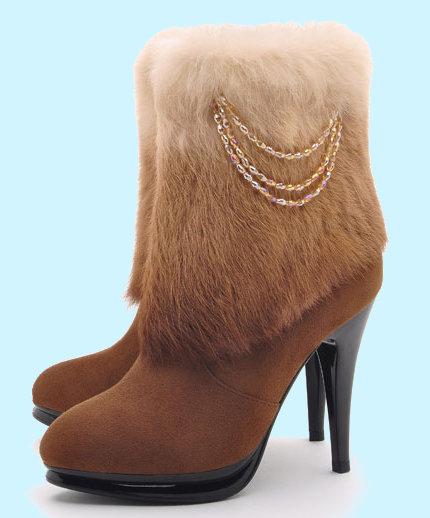 Модная меховая обувь осень зима 2014-2015