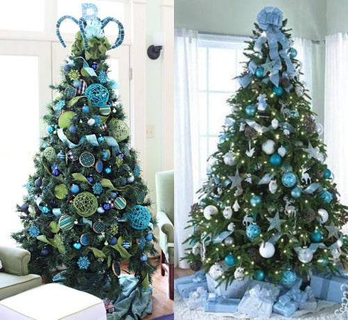 елки в синем стиле