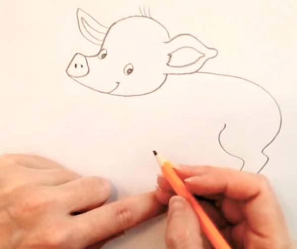 рисуем туловище свиньи