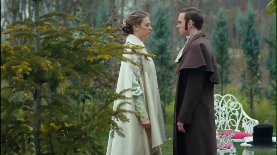 Разговор Анны и Николая во дворцовом саду