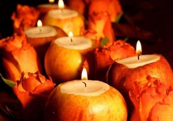 Оригинальные свечи на елку