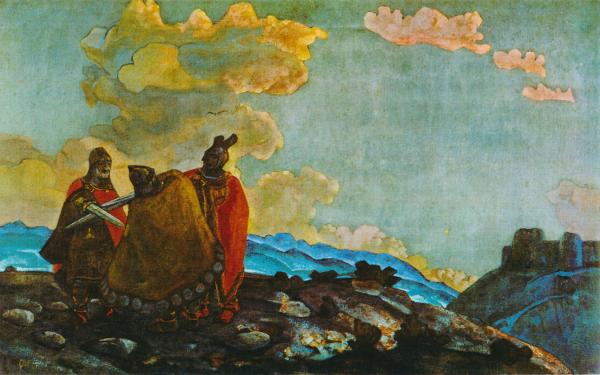 """Картина Николая Рериха """"Короны"""""""