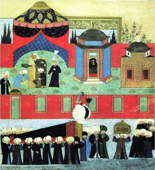 Похороны султана Сулеймана