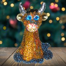 Как сделать новогоднего бычка своими руками на ёлку
