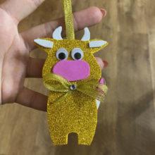 Как сделать ёлочную игрушку из фоамирана