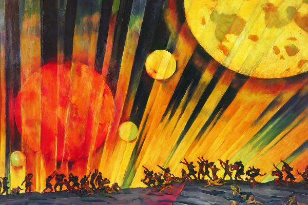 К. Юон «Новая планета». 1921 г.